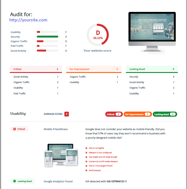 This Free SEO audit shows you just how visible your website is online